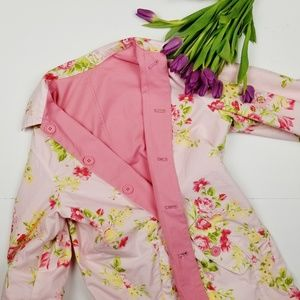 Floral Reversible Trench Coat